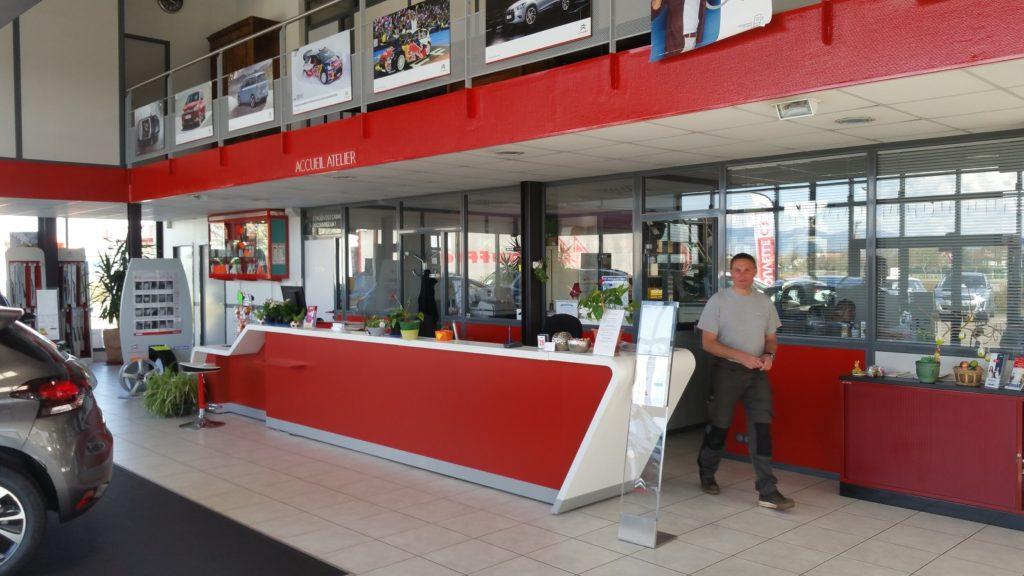Comptoir accueil Garage Citroen Muller